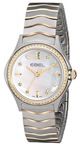 Ebel 1216198Wave de la mujer cuarzo analógica Swiss dos tonos reloj