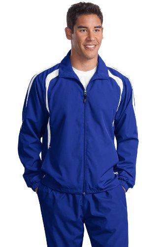 Sport-tek Herren Raglan (Sport-Tek Herren Hoch Colorblock Raglan Jacket, Tjst60, Blau, TJST60)
