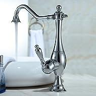 SHUYOU® Vintage Style Curve Design Kitchen Faucet