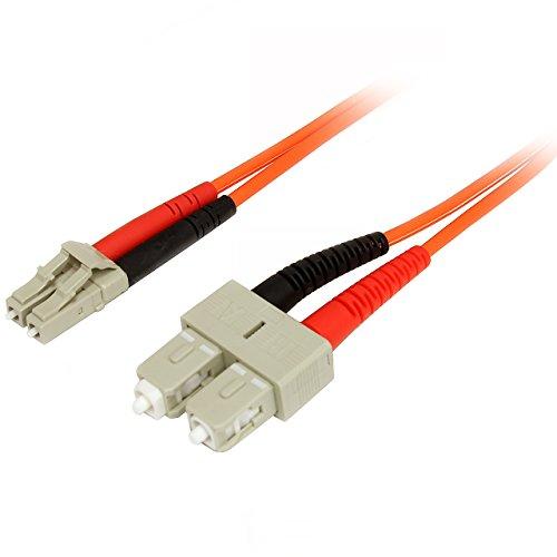 StarTech.com 1 m Multimode 50/125 Duplex LWL-Patchkabel LC - SC - Glasfaser Netzwerkkabel -