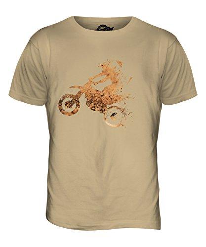 CandyMix Dreieckig Motocross Herren T Shirt Sand