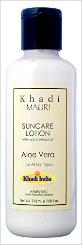Khadi Suncare Lotion - SPF 30 Protective Shield - Herbal Summer Care - 210 ml - Enriched with Aloe Vera  available at amazon for Rs.130