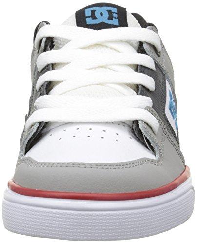 DC ShoesPure B - Scarpe da Ginnastica Basse Bambino Grigio (Gris (Grey/Black/Red))