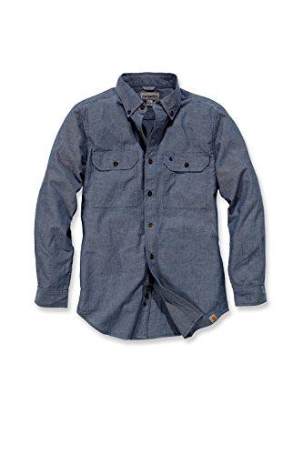 Carhartt S202 L/S Fort Solid Shirt - Arbeitshemd - Freizeithemd (XXL, Blau)