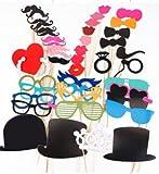 44Tlg. Hochzeit Party Foto Verkleidung Partymitbringsel Brille Photo Booth Props
