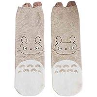 LHWY Moda calcetines de invierno Mujer dulce lindo gato orejas patrón de dibujos animados calcetines