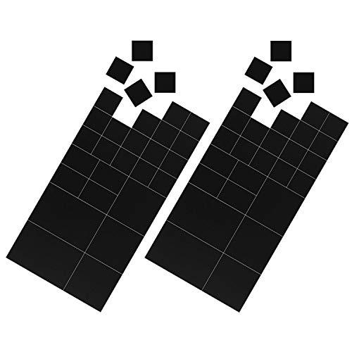 Magnetastico® | 58x selbstklebende Magnetplättchen | Verschiedene Größen | Zuschneidbare Magnet-Plättchen mit Klebefläche für Poster, Postkarten, Fotos | Magnete zum Aufkleben | Flexible Klebe-Magnete