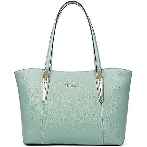 bolsos para el dia de la madre BOSTANTEN Bolso Verano hombro de piel Cuero Genuino para mujer bolso de compra múltiple color