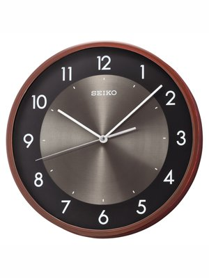 Seiko Wall Clock (30 cm x 30 cm x 4.5 cm, Brown, QXA615ZN)