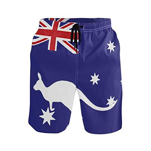 akingstore Australien und Neuseeland Flagge Herren Strand Shorts Badehose Quick Dry Boardshorts mit Taschen Mesh-Futter