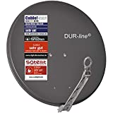 DUR-line Select 75cm/80cm Anthrazit Satelliten-Schüssel - 3 x...