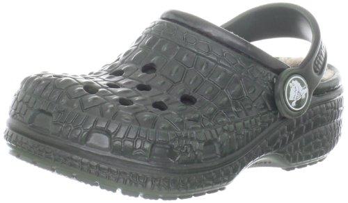 Crocs - - Kids Unisex kin Gefüttert Clog Kids Schuhe, EUR: 29-31, Forest Green/Black (Crocs Kinder 12 13)