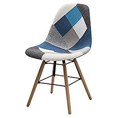 ARREDinITALY -Set 2 sedie di design imbottite e rivestite con ...