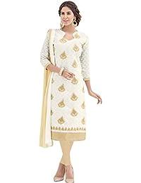 EthnicJunction Women's Dress Material (EJ1169-8002_Black_Free Size)