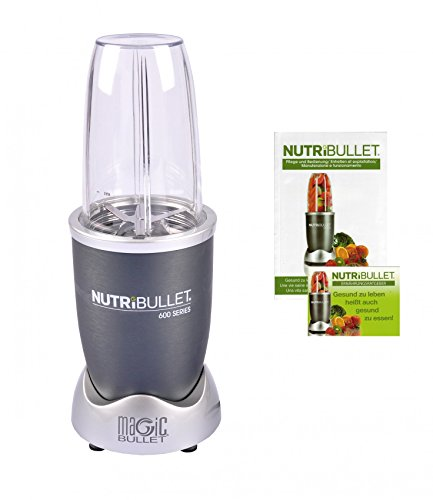 NutriBullet NB5G NB 5G Smoothie Maker, Edelstahl, Grau