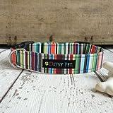 Ditsy Pet Hundehalsband, Modell: Joseph, gestreift
