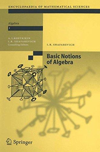 Encyclopaedia of mathematical sciences, vol.11: Algebra I. Basic notions of algebra