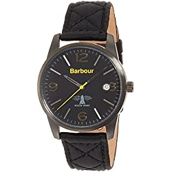 Barbour BB026BKBK Mens Alanby Black Leather Strap Watch