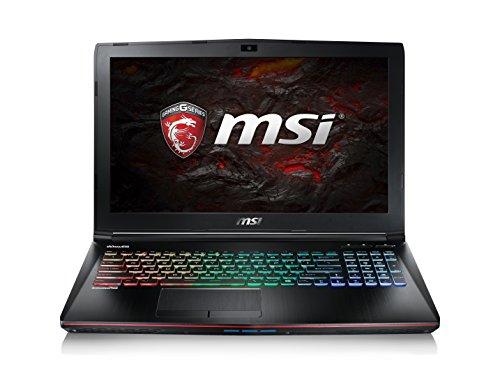 """MSI GE62VR 7RF-466 Apache PRO Notebook da Gaming, Display da 15.6"""", i7-7700HQ, HDD da 1256"""", GTX 1060, Nero"""