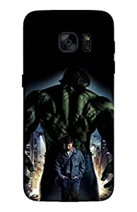 Cell Planet's High Quality Designer Mobile Back Cover for Samsung Galaxy S7 Edge on Comics/Cartoons/Superheroes theme - ht-smsng_s7_edge-superman_016