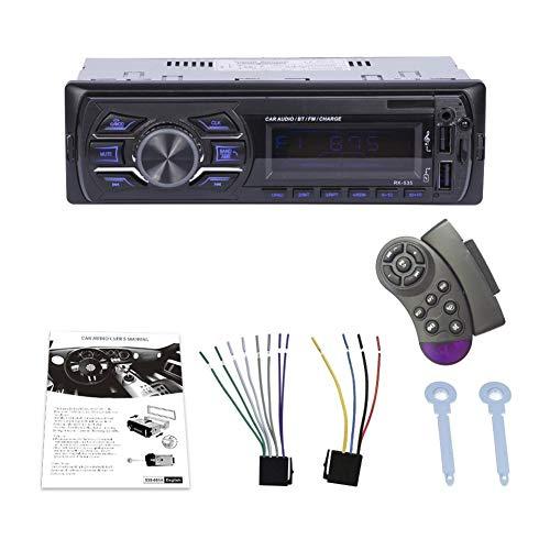 Radio De Voiture Stéréo Vidéo FM Radio - DC 12V Universel Autoradio Bluetooth Lecteur De Radio MP3 avec Interface Standard ISO & AUX-in SD USB MP3 MMC WMA - 7 Couleurs Bcaklight