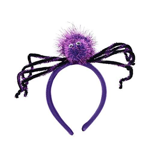 Timlatte Frauen-Mädchen-Spinnen-Stirnband Kinder Erwachsene Haarband Kopfbedeckung Halloween-Tanzparty-Haarschmuck (Klassischen Halloween-party-spiele Erwachsene Für)