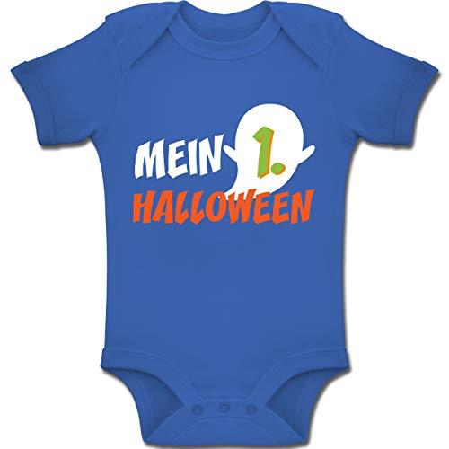 Shirtracer Anlässe Baby - Mein erstes Halloween Geist - 3-6 Monate - Royalblau - BZ10 - Baby Body Kurzarm Jungen Mädchen