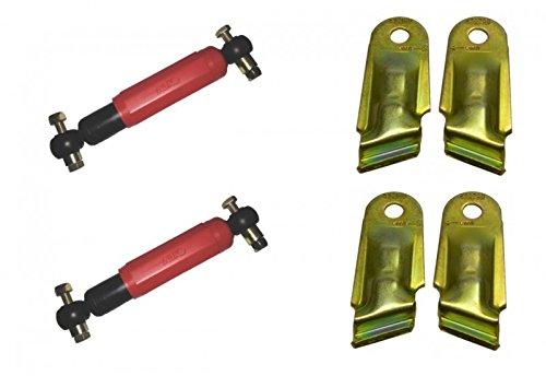 FKAnhängerteile 2 x AL-KO Octagon Achsstoßdämpfer Stoßdämpfer ROT + 2 x Halter