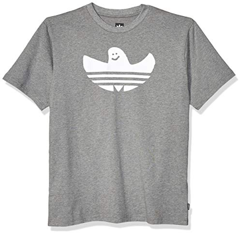 adidas Originals Herren Skate Shmoo Tee Grafik, T-Shirt, Kern-Heather/White, Klein