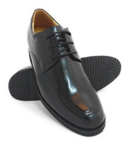 ZERIMAR Zapatos con alzas para hombre de estilo elegante Diseño con cordones y acabado en piel natural de primera calidad Aumento +6,5 Cm (42)