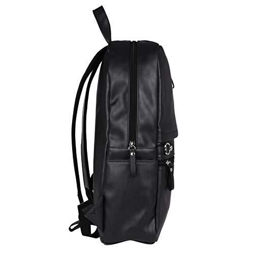 Best mens leather backpack in India 2020 Fur Jaden Black Artificial Leather Laptop Backpack Bag for Men Image 3