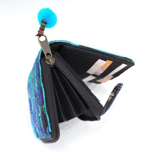 Pacific - portamonete donna , portafoglio,fatto a mano (azzurro) verde