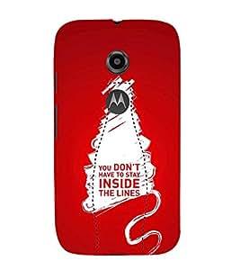 PrintVisa Designer Back Case Cover for Motorola Moto E2 :: Motorola Moto E Dual SIM (2nd Gen) :: Motorola Moto E 2nd Gen 3G XT1506 :: Motorola Moto E 2nd Gen 4G XT1521 (Quote Love Heart Messages Crazy Express Sorry )