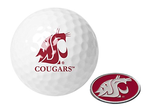 NCAA Washington State Cougar - Golf Ball One Pack mit Marker