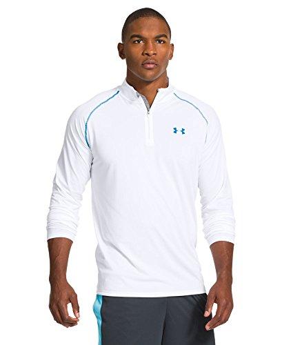Under Armour Tech Langarm-Shirt mit 1/4Reißverschluss, für Herren, Herren, Weiß/Electric Blue