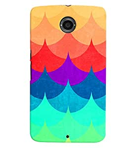PRINTVISA Abstract Colourful Pattern Case Cover for Motorola Google Nexus 6