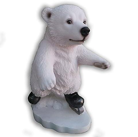 Fun Ours Polaires d'hiver ski, snowboard ou glace Patinage Idée Cadeau Très détaillée Ice