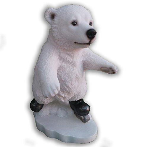 Fun Ours Polaires d'hiver ski, snowboard ou glace Patinage Idée Cadeau Très détaillée Ice Skating