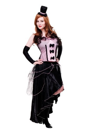 DRESS ME UP - Kostüm Damen Damenkostüm Burlesque Can-Can Girl Saloon Tänzerin burlesk L056 Gr ()
