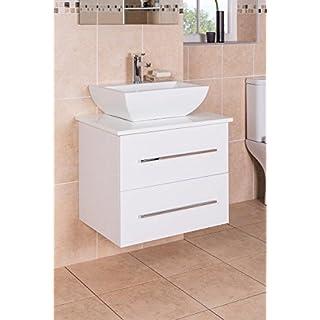 Aquariss Badmöbel Badezimmermöbel Waschbecken Unterschrank Wandhängend 600mm Weiß