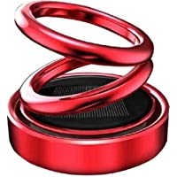 Semaphore Solar Energy Rotating Car Perfume with Long Lasting Mixed Fragrance(Red) for Audi A1
