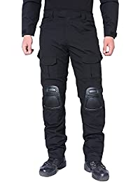 MAGCOMSEN Men Hunting Trousers Airsoft Military Multicam Tactical Combat Pants with Knee Pads