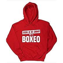 HippoWarehouse ¡FUERA DE MI CAMINO! VOY A BOXEO jersey sudadera con capucha suéter derportiva unisex