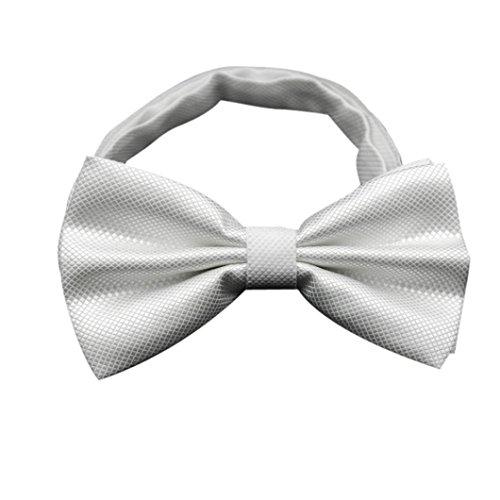 Ouneed® Exquise Cravate Noeud de Mariage Cérémonie Blanc
