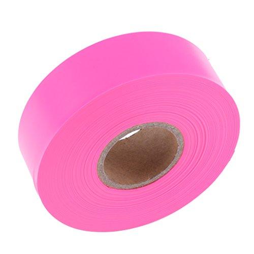 Preisvergleich Produktbild D DOLITY Absperrband Warnband Gefahr Warnung,  Nicht Klebend,  Orange / Rosa / Blau,  2.5cm * 45m - Rosa
