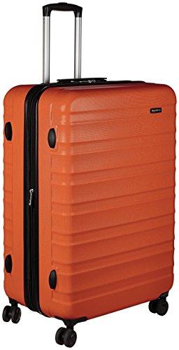 AmazonBasics Valise rigide à roulettes pivotantes, 79cm, Orange brûlé