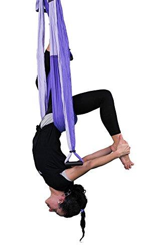 YOGABODY Yoga Trapecio Púrpura - Yoga swing, Yoga Sling,...