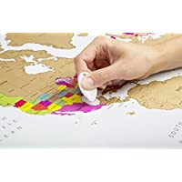 Mapa mundi para rascar   Colores vibrantes y textos en negrita   Mapa mundi rascar  Regalo para viajeros   Edición deluxe 60 cm (alto) x 90 cm (ancho)   Globetrotter scratch off world map