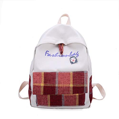 AIni Rucksack Mode Damen'S Einfacher Und Vielseitiger Rucksack Neu Plaid Leisure Travel Backpack Schulrucksack Business Wandern Reisen Camping Tagesrucksack