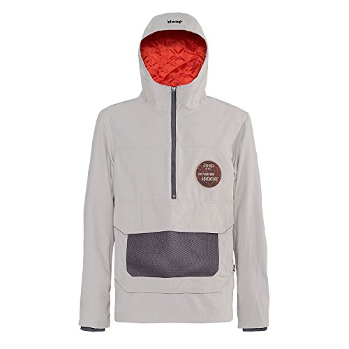 Jeep Man Anorak Padded Jacket W/Hood J4 W, grau (Staub/Red Clay), XXL